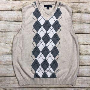 Tommy Hilfiger V-neck Argyle Large Sweater Vest